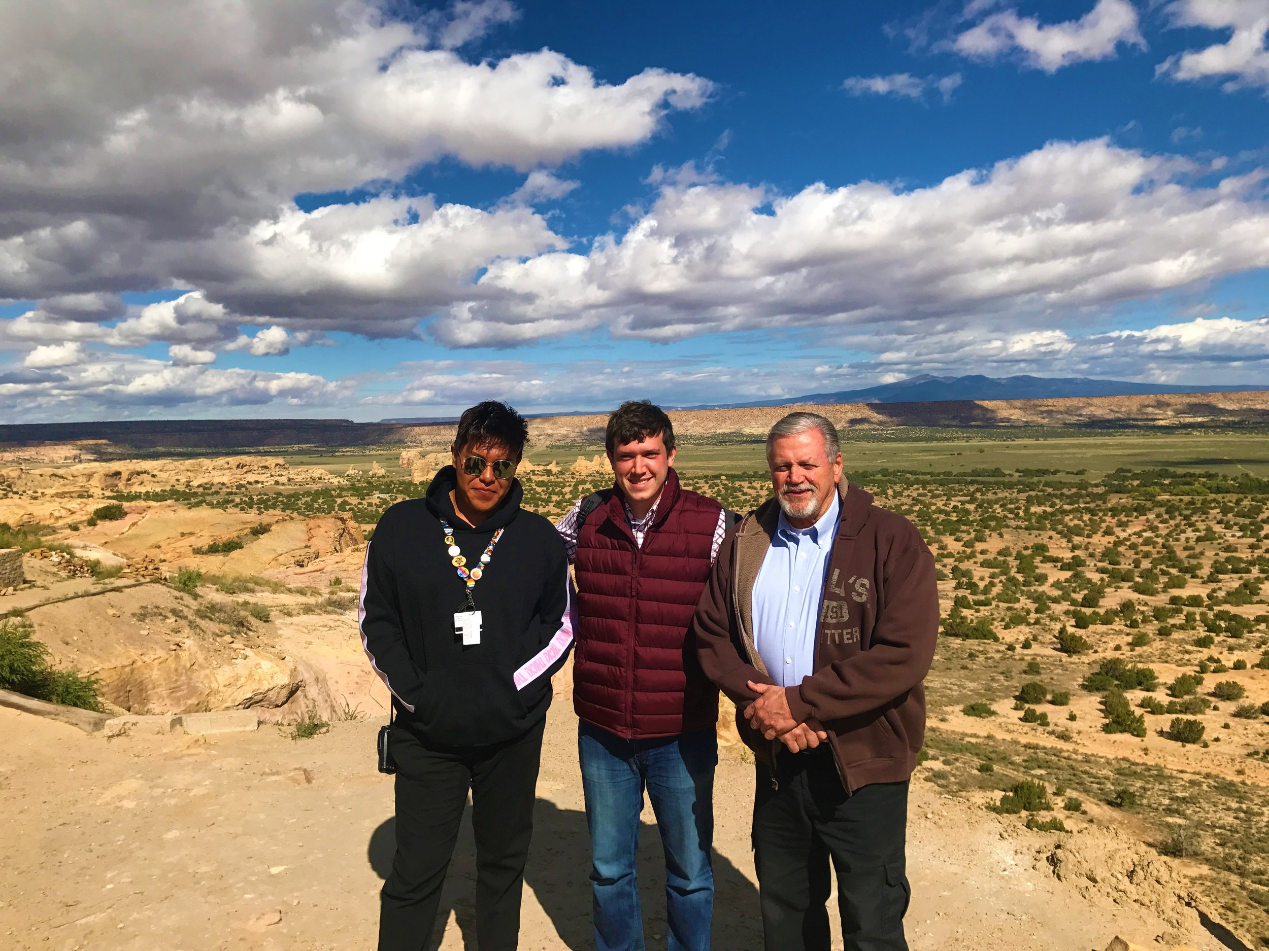 Pictured Left to Right: Acoma Local Guide, Tour Director - JD, Motorcoach Operator - Lyn