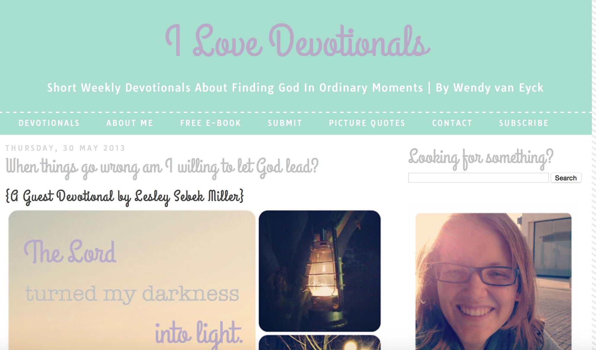 Ilovedevotionals.com