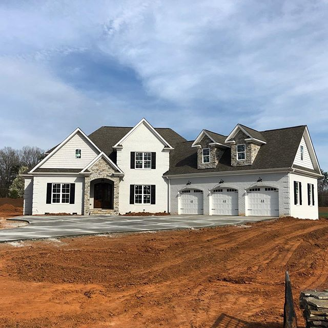 Progress pic of our Spring Parade Home- almost there! Come see the finished product in person! April 27th-28th and May 4th-5th. Our featured home is located at 8306 Cavelletti Ct. Summerfield, NC. Hope to see you there!