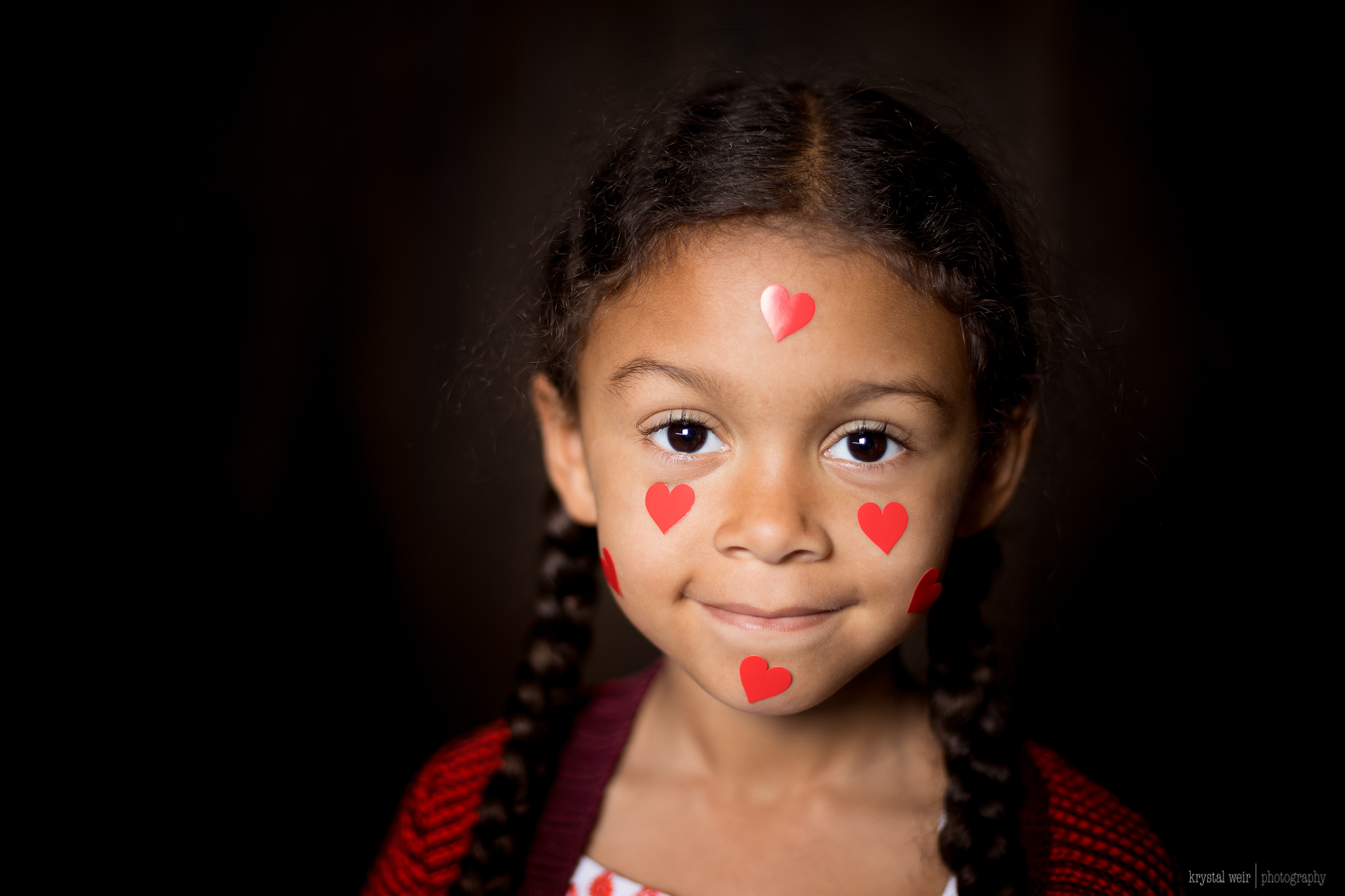 Day 45/365 One more Valentine's Day share before the night is over! She's such a good sport most of the time 😍😂❤️  A little Valentines Day fun! I used my usual setup, one speed light and 24x24in softbox, about 4 ft away.