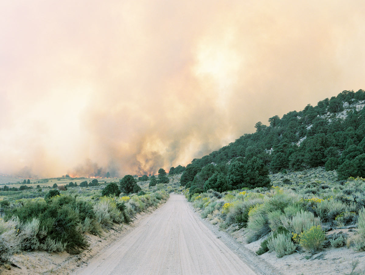 """From """"American Prayer"""" series   Fire at June Lake    California, 2015"""