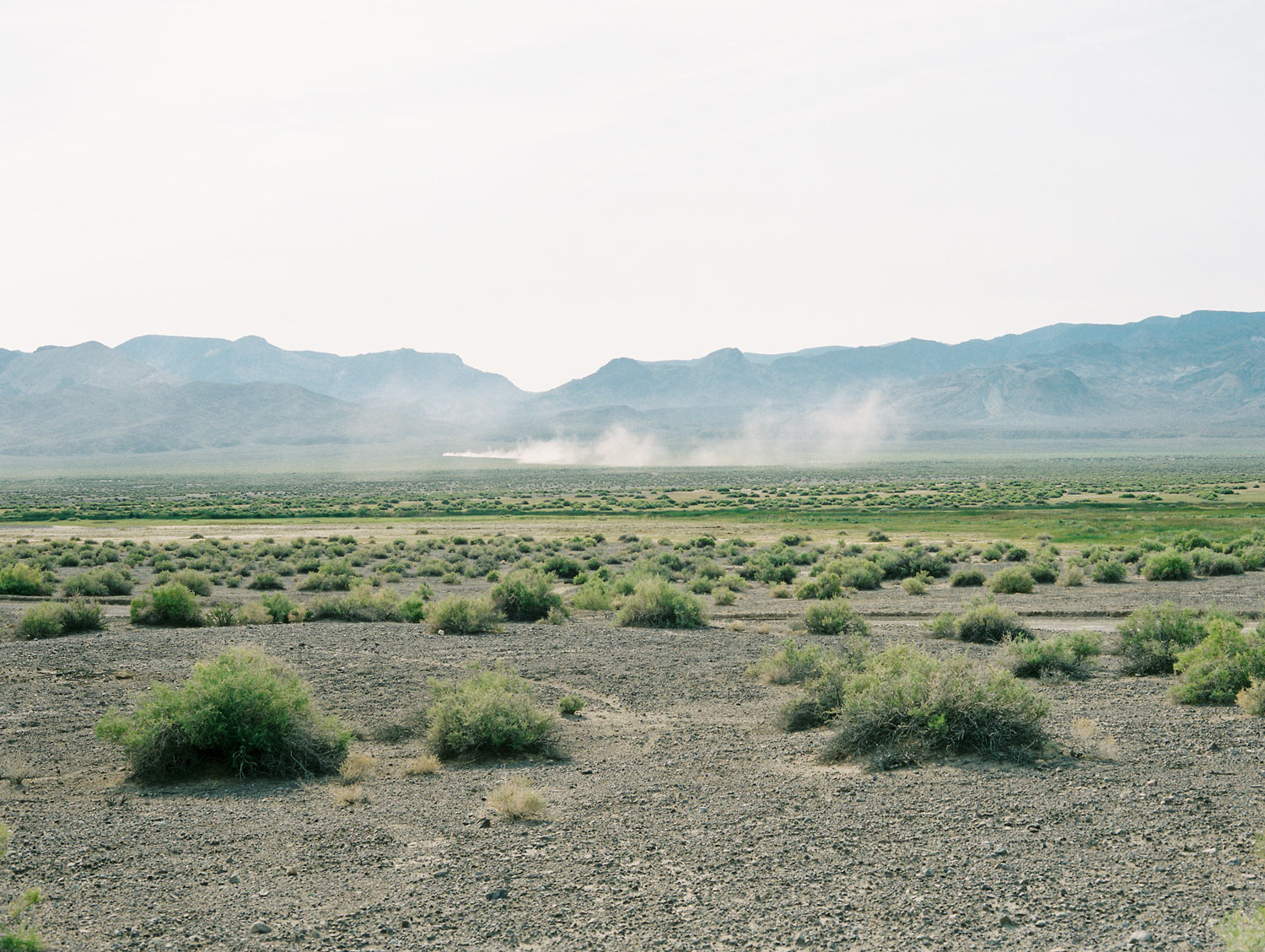 "Dust trail From ""American Prayer"" Nevada, 2015"