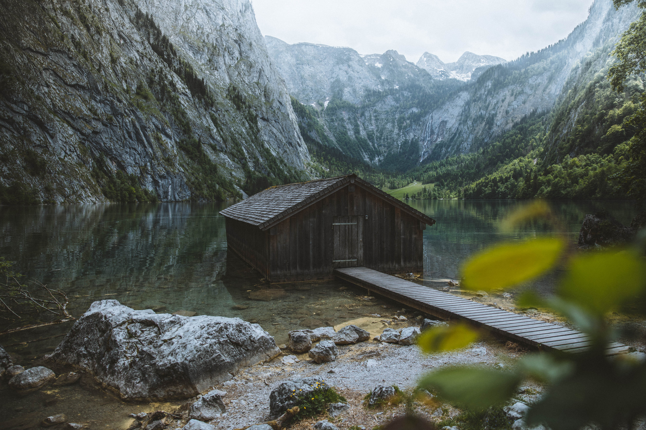 The famous cabin on lake Obersee