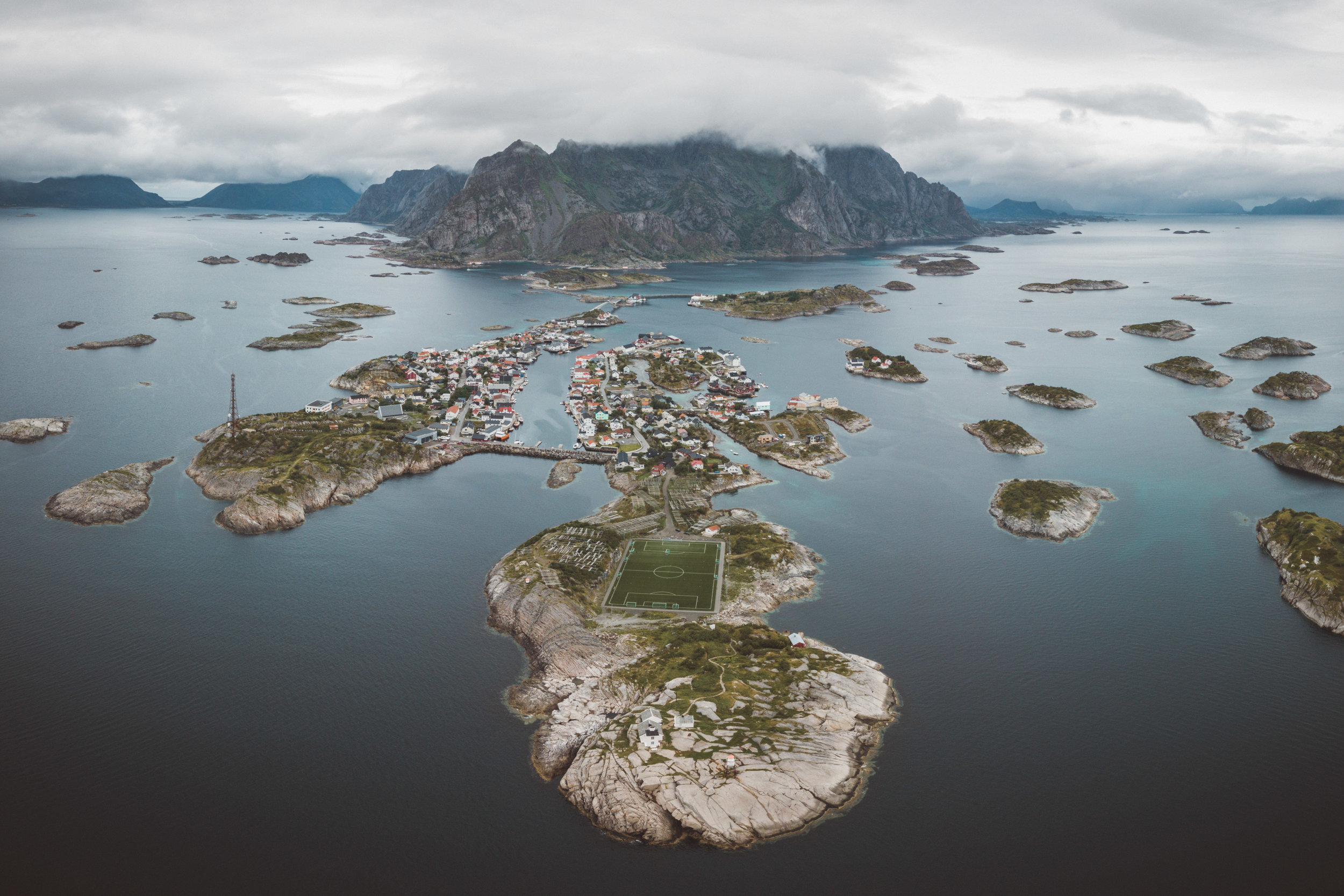 Henningvaer from above!