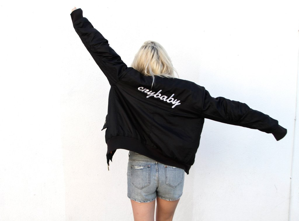 3 PERSONALISED London Loves LA Embroidered Bomber Jacket <3