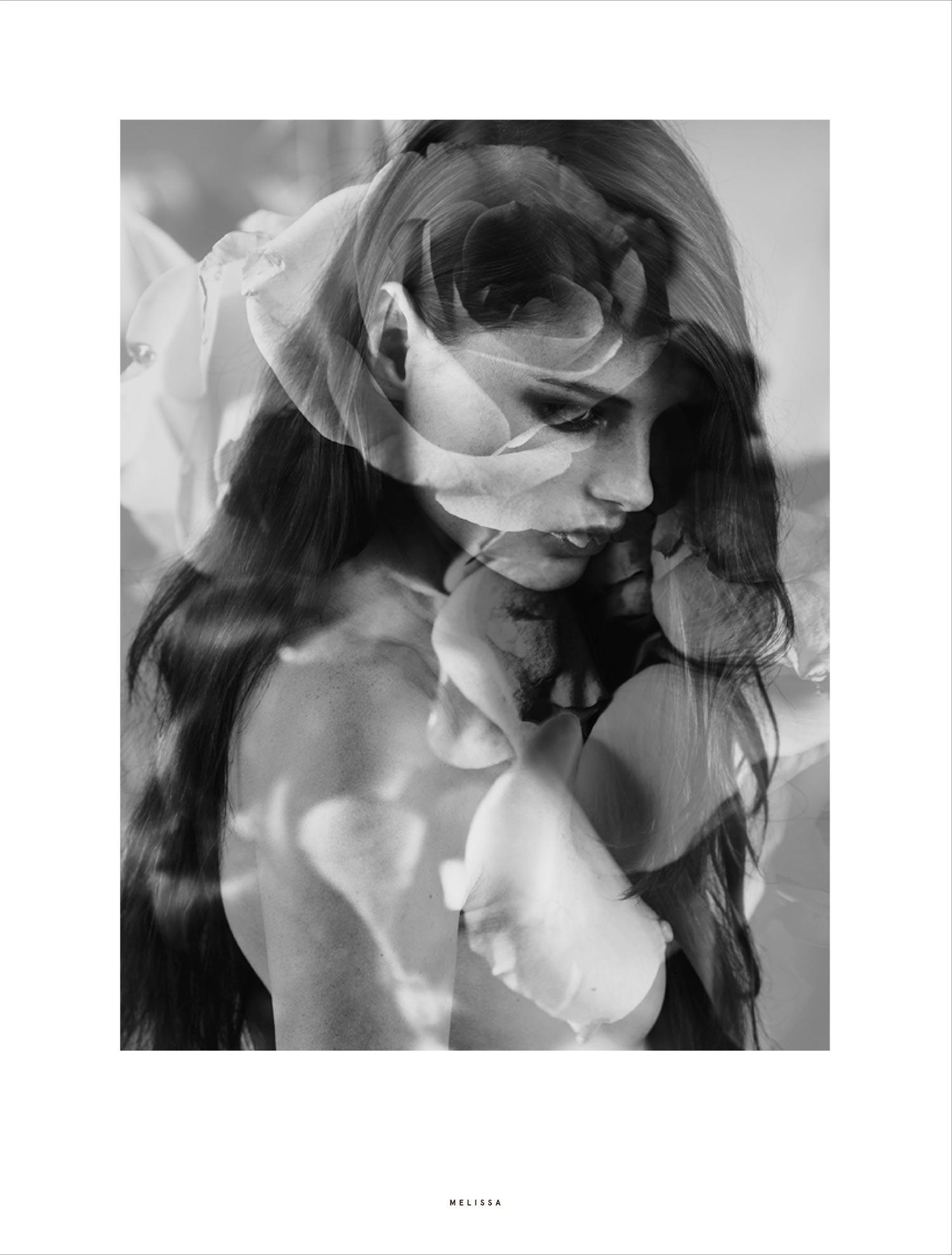 Photographer - Dennis Schoenberg  Stylist - Siobhan Lyons  Hair - Angela Hertel  Makeup Artist - Elizabeth Hsieh  Model - Melissa Bell @ Select
