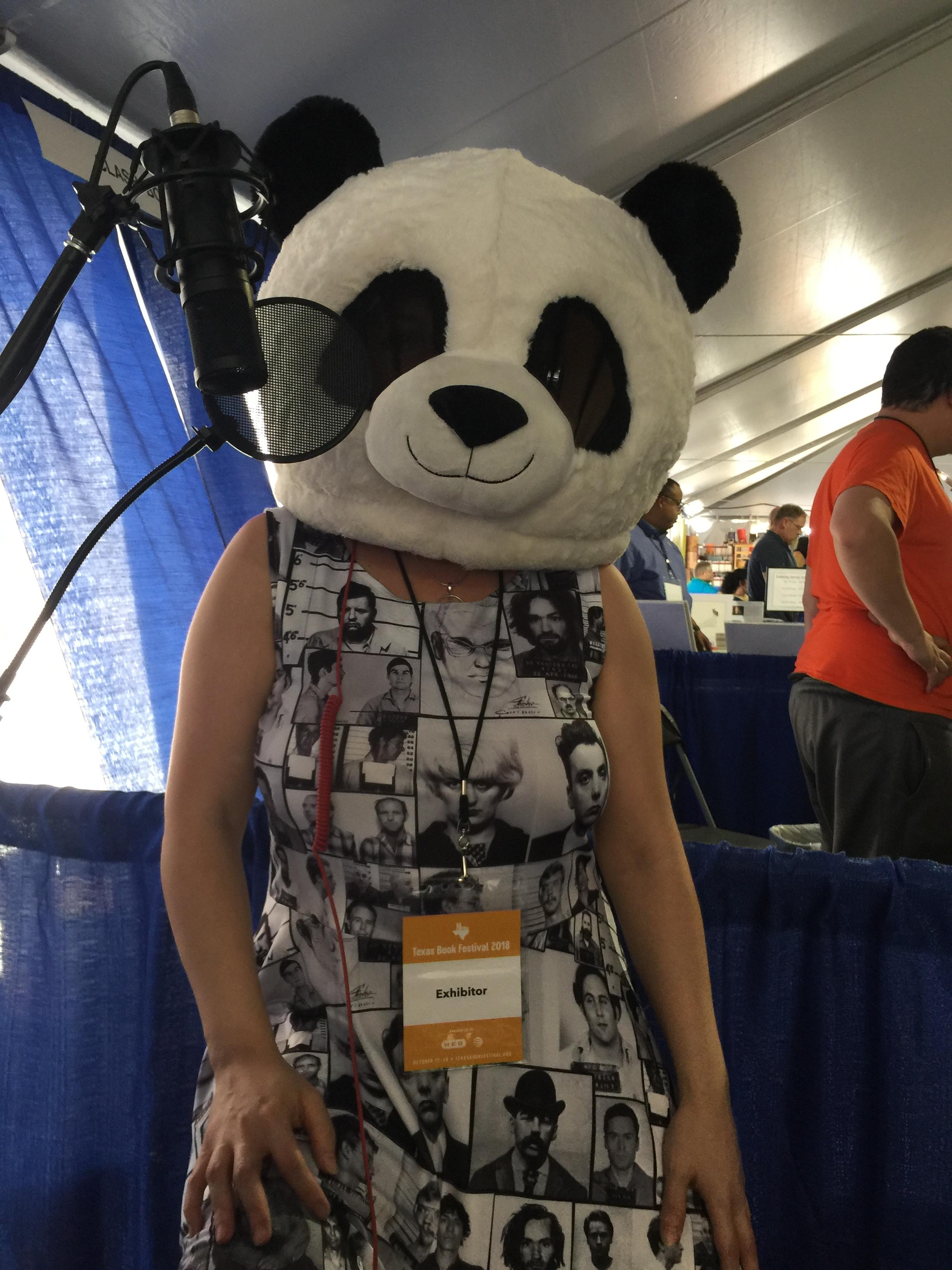 Leza Cantoral, author and panda