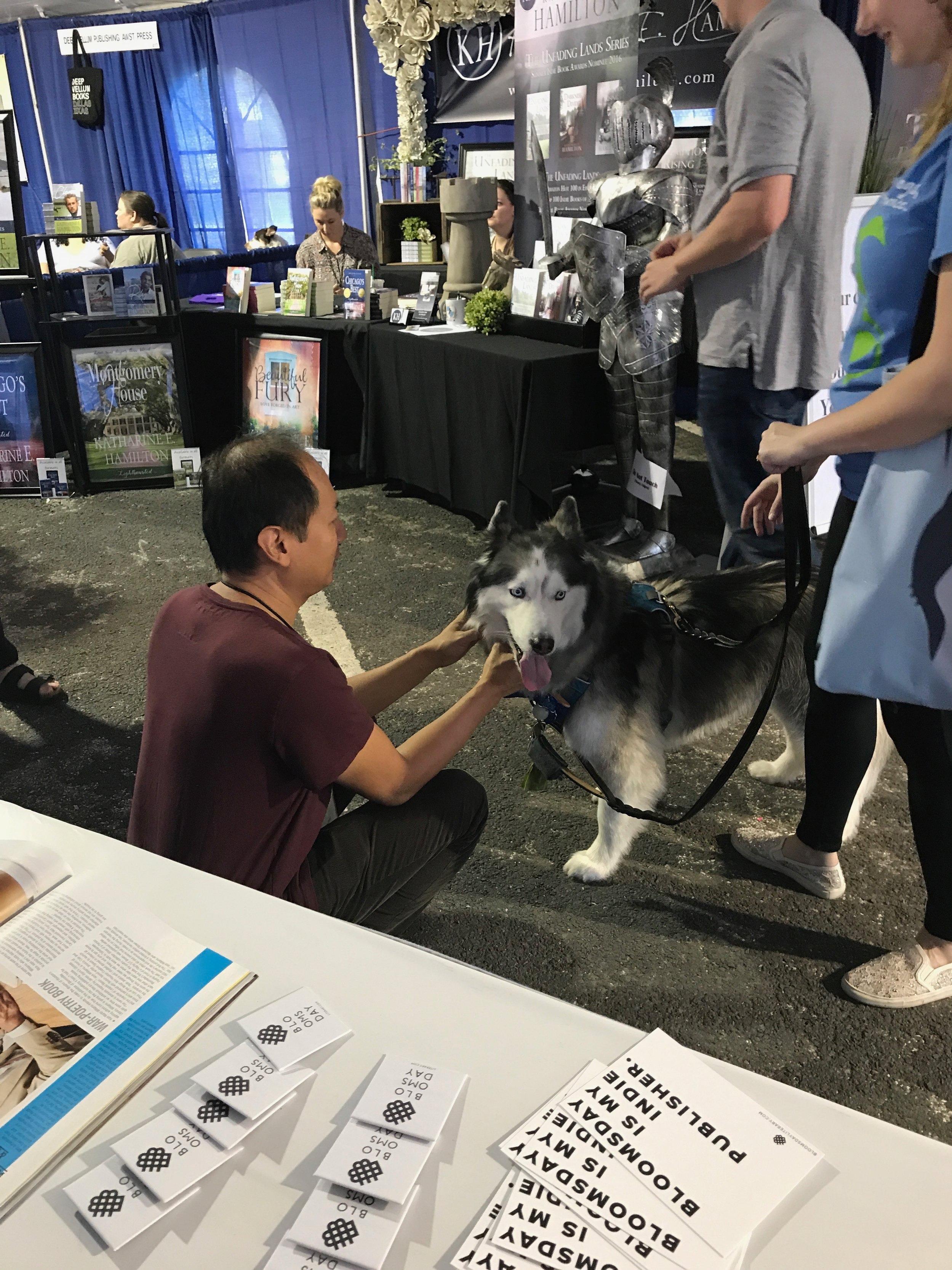 Phuc with dog