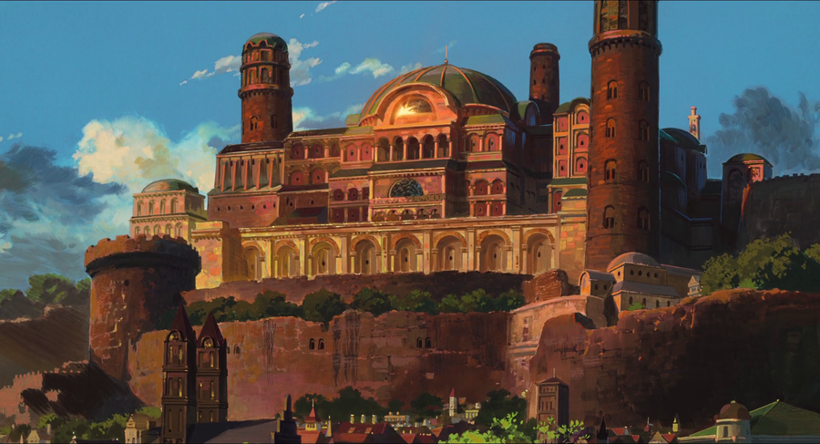 Arren's castle from the first 5 minutes of  Tales from Earthsea  (Studio Ghibli, 2006)