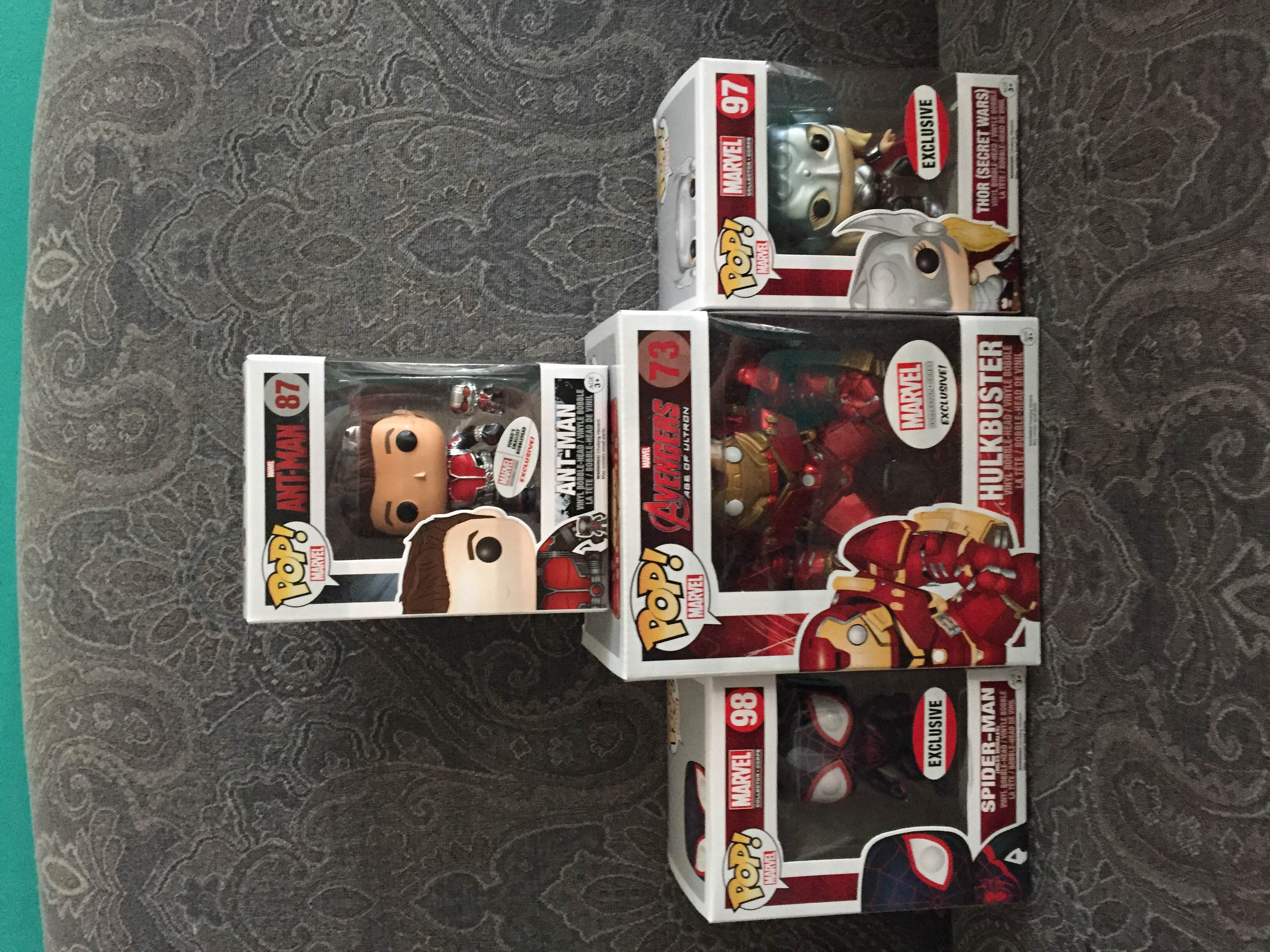 All 4 of the Collector Corps Exclusive Pops.