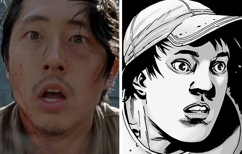 Moviepilot.com's comparison of Glenn's demise(?) in the TV shows and comic series.