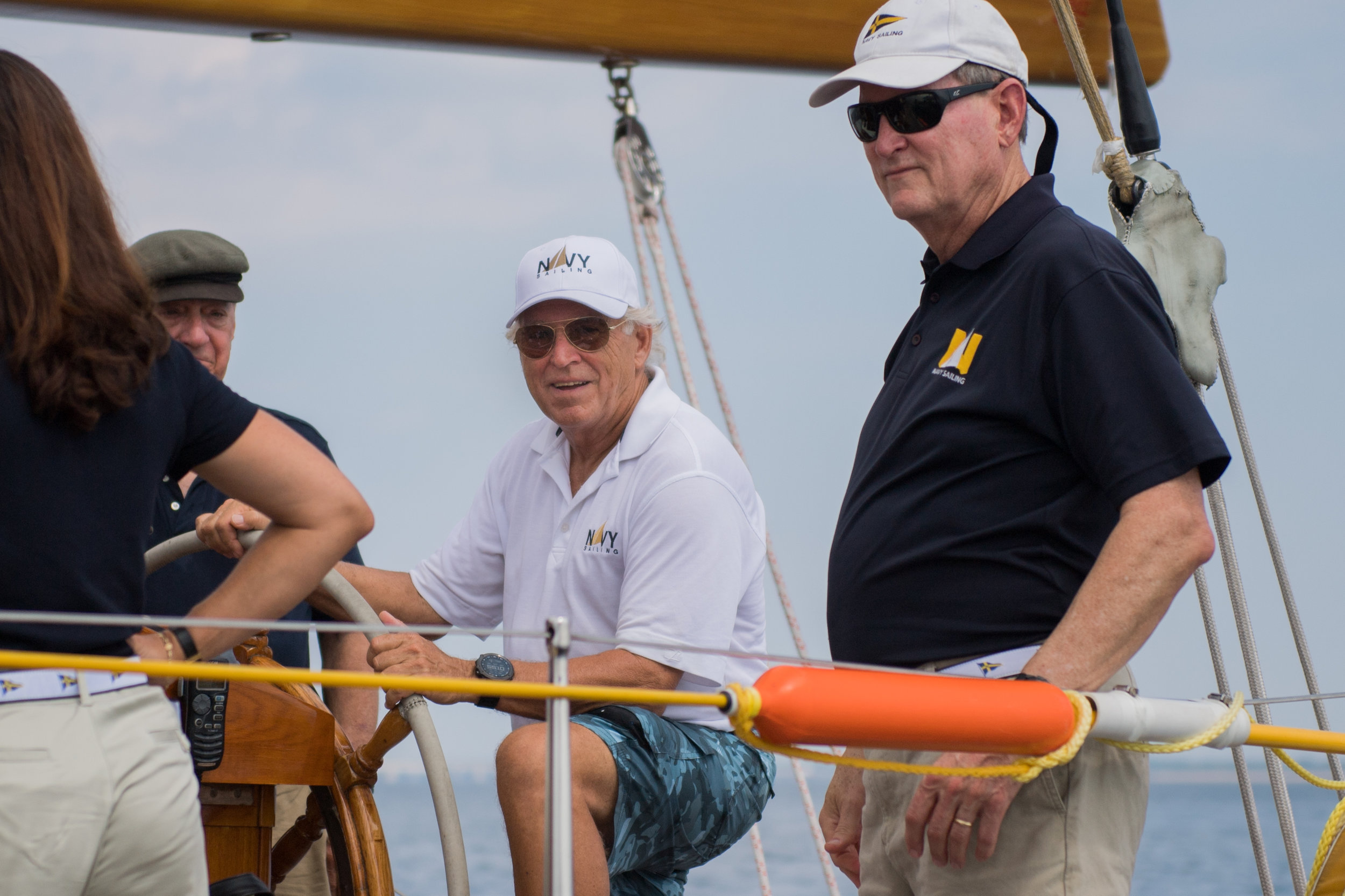 A big fan of Naval Academy Sailing, Jimmy has been wearing our gear on stage this summer.