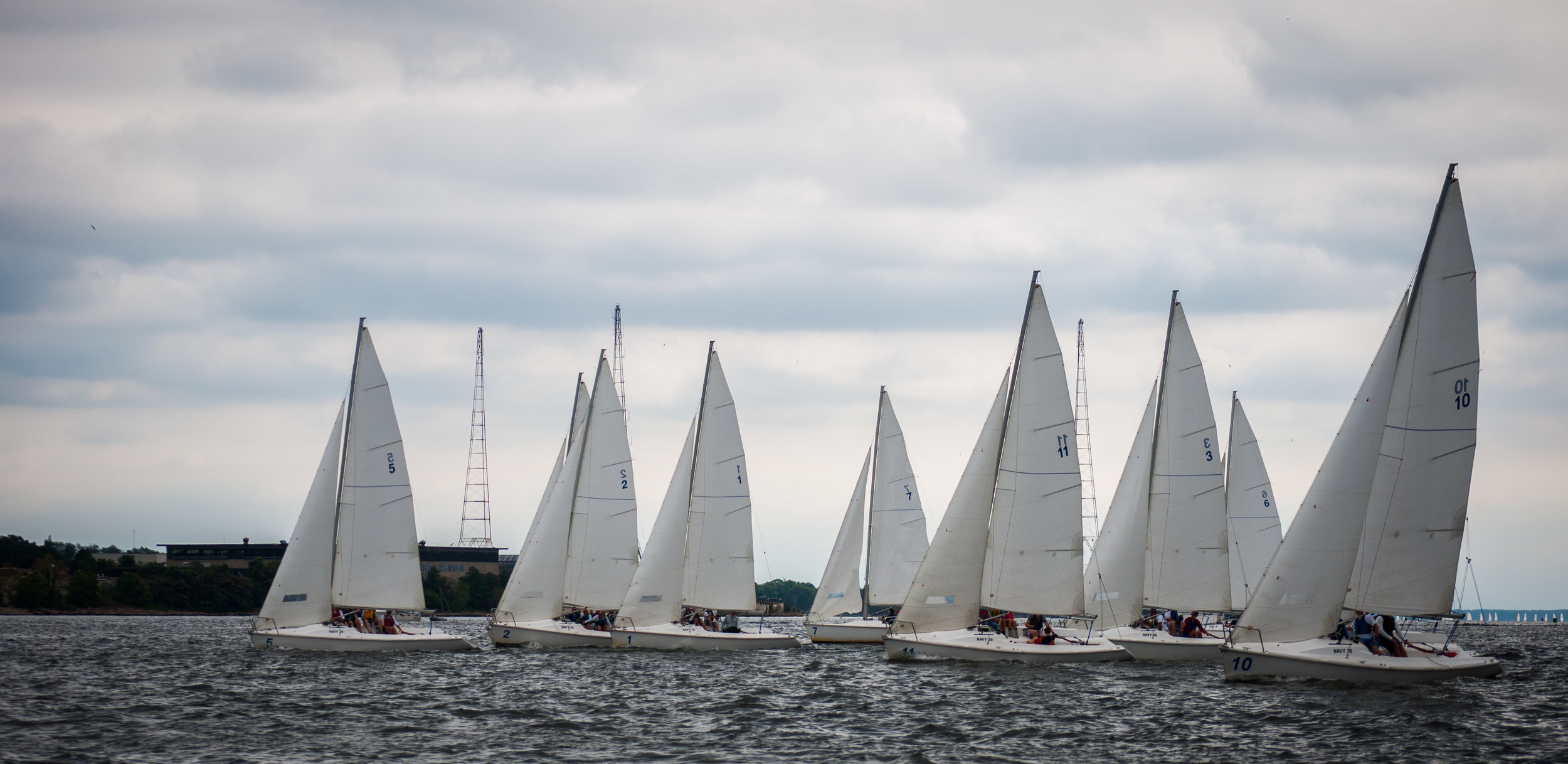 The Robert Crown Sailing Center played host to approximately 60 former sailing team graduates and staff members.