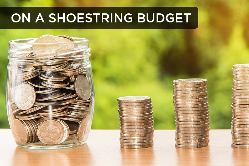 To be on a shoestring budget refers to having very little or not enough money.