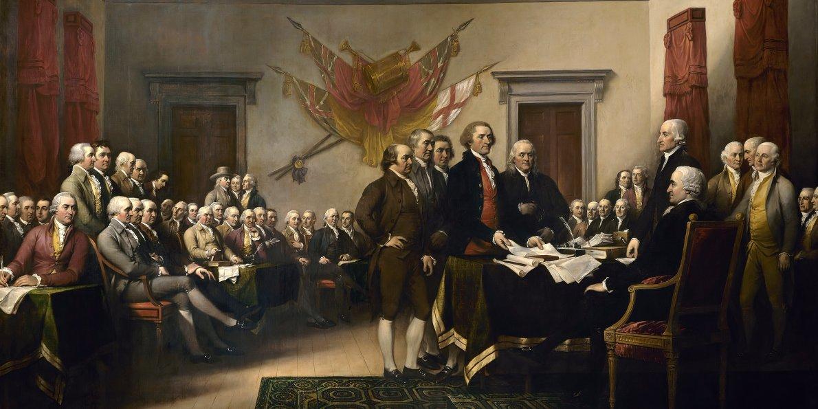 John Trumbull Artist, Oil on canvas, 12' x 18' 1818; placed 1826, Rotunda, U.S. Capitol