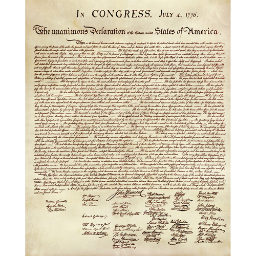 Parchment Declaration of Independence