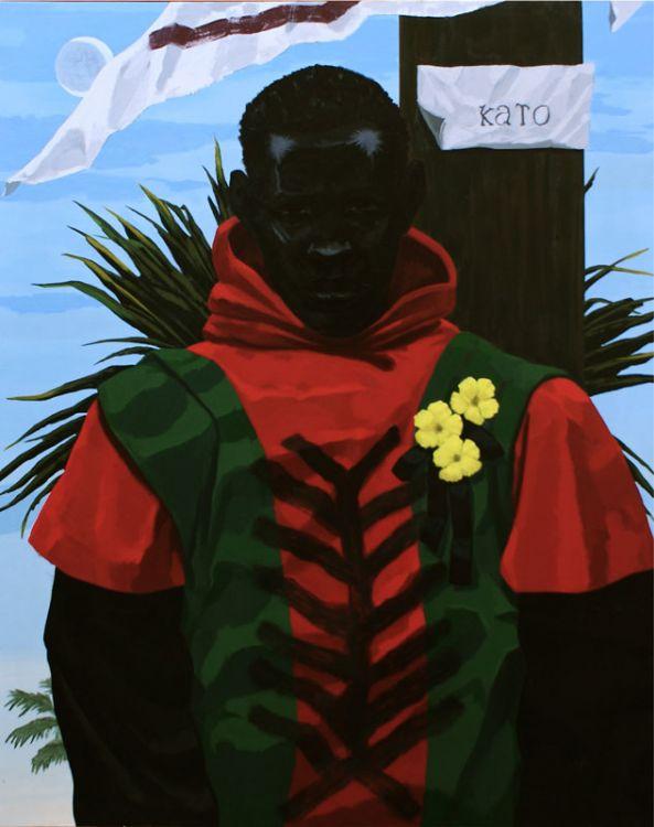 Kerry James Marshall, Stono Group (Kato), 2012, Acrylic on PVC, 29 x 34 in