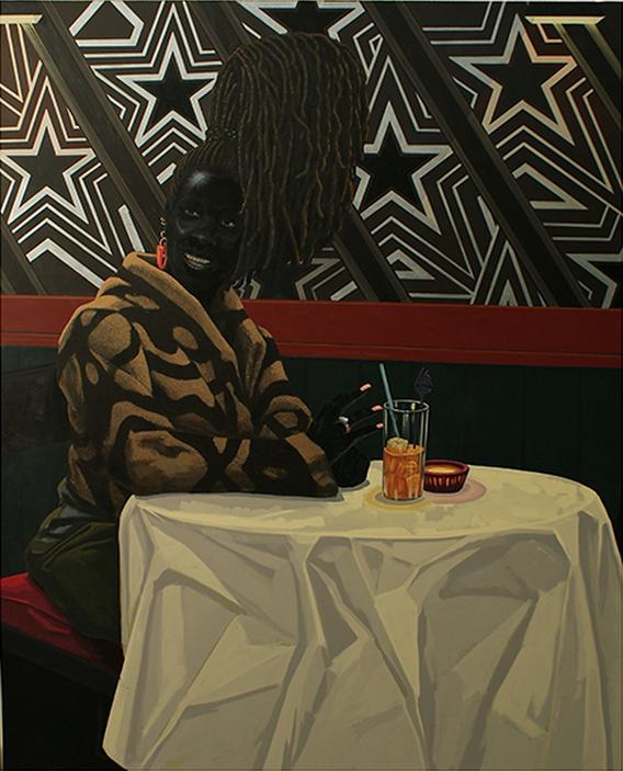 Kerry James Marshall, The Club , 2011, Acrylic on PVC panel, 150 x 122 cm