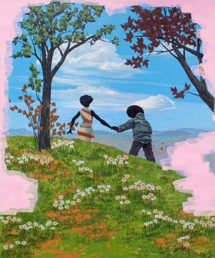 Kerry James Marshall, Vignette 13 , 2008, Acrylic on PVC, 182,9 x 152,4 cm