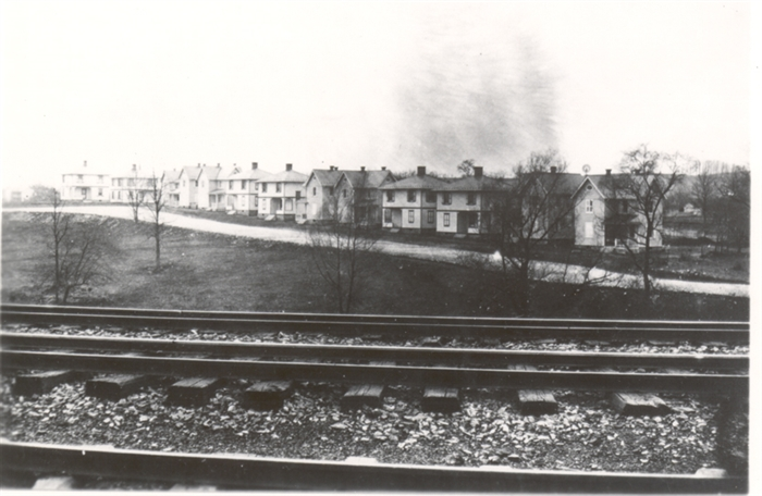 The first homes were built on Trinidad Avenue, located across the railroad tracks from the factory, ca. 1906-1907