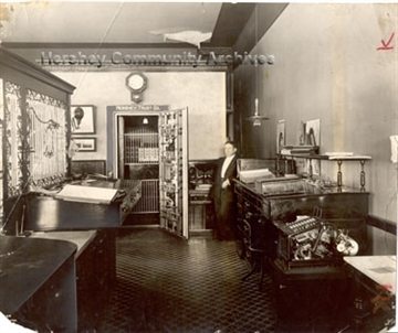 Established in 1905, Hershey Trust Company operated out of the Cocoa House until 1914. ca.1905