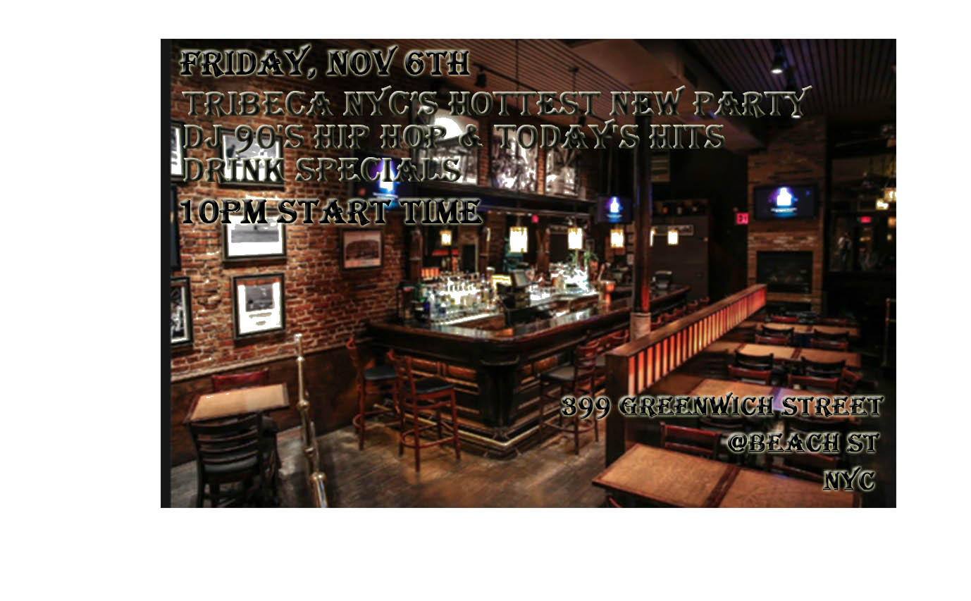 NYC'S NEWEST, HOTTEST FRIDAY NIGHT PARTY. STARTS AT 10PM.