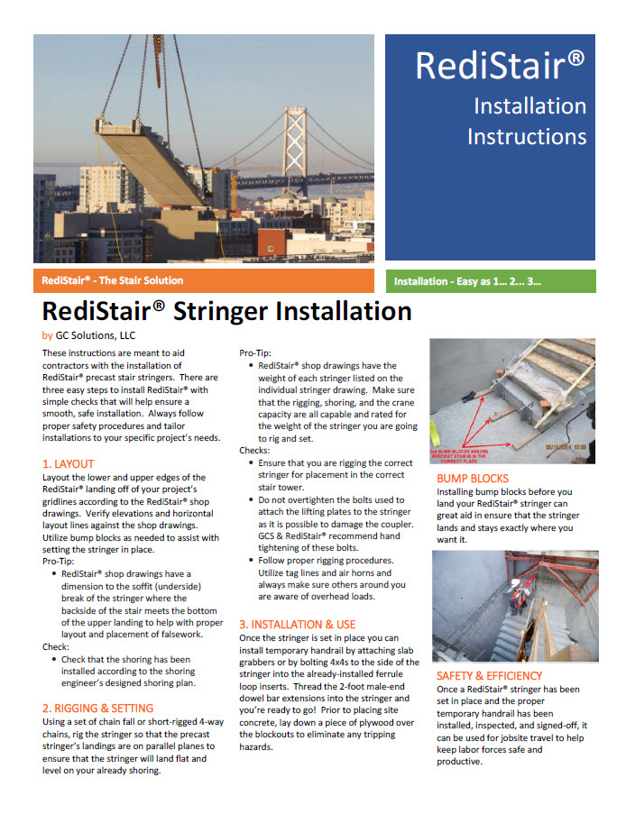 Click Here to Download the RediStair® Installation Instructions