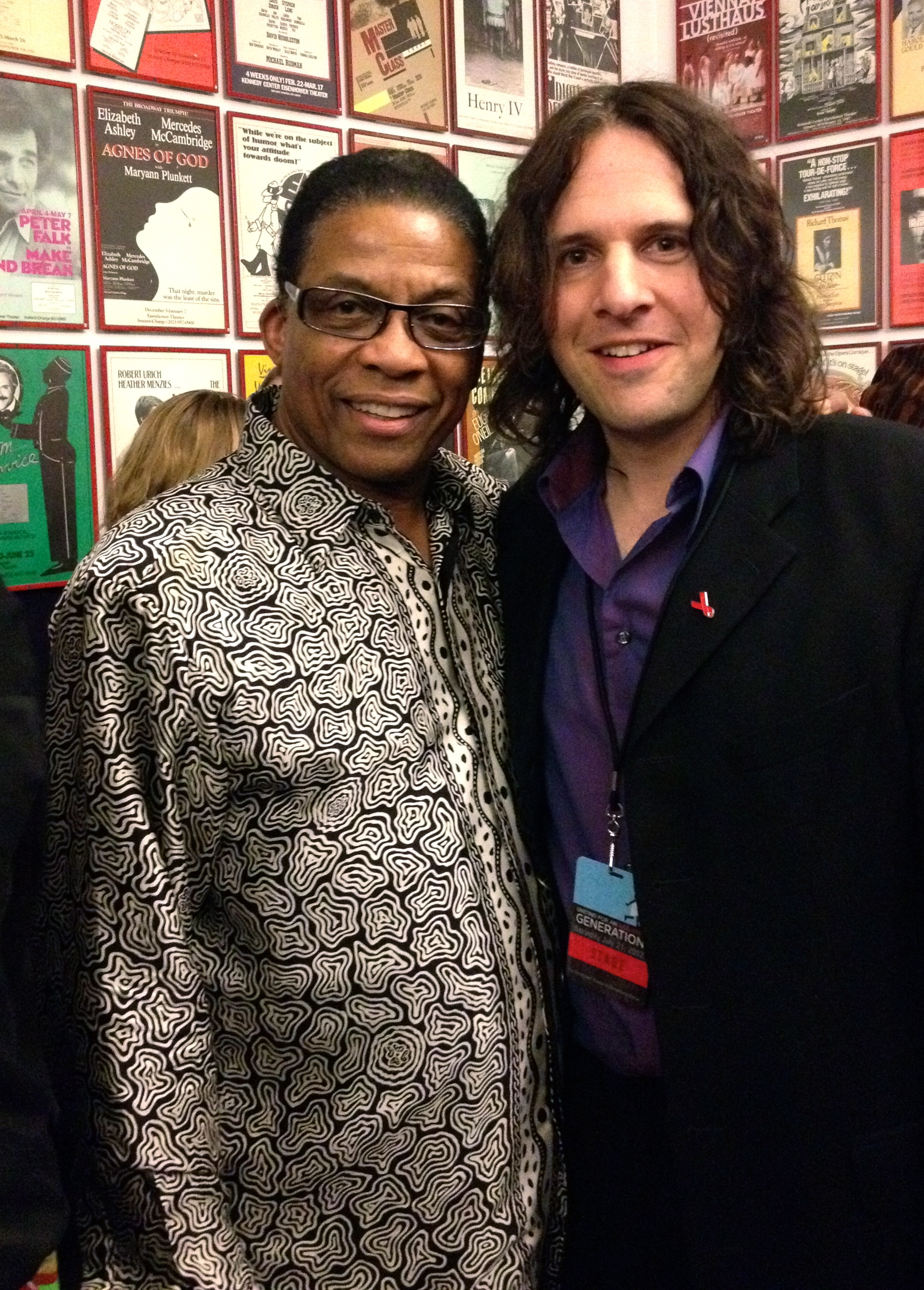 With Herbie Hancock @ UN-Aids Gala