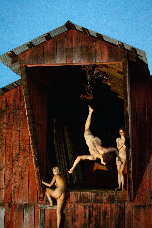 Barn Flip (Red),  2013