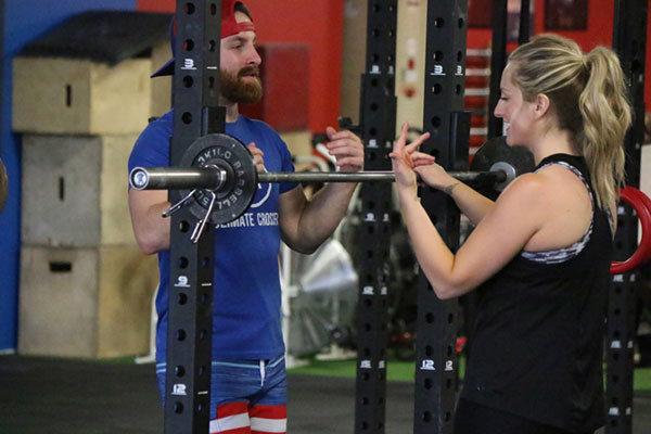 Discussing the WOD with Coach Tony