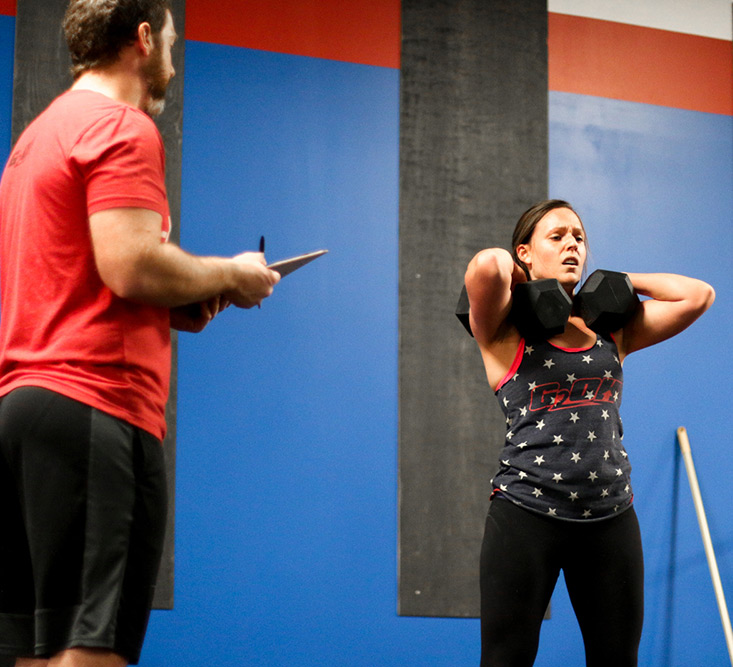 Dani and her husband Bryan during the 2018 CrossFit Open
