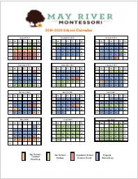 MRM Calendar 2019-2020