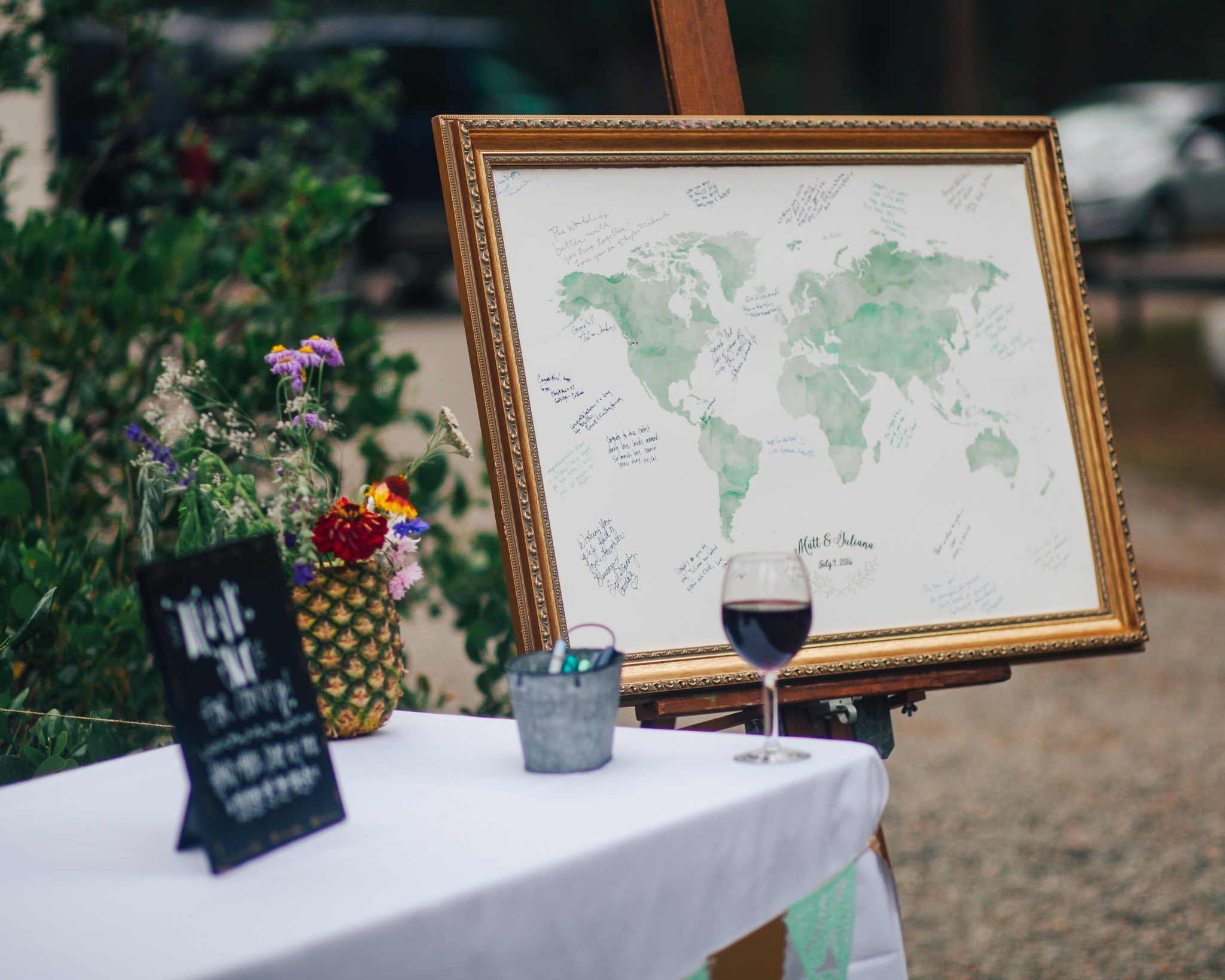 Map Guestbook | PNW WEDDING