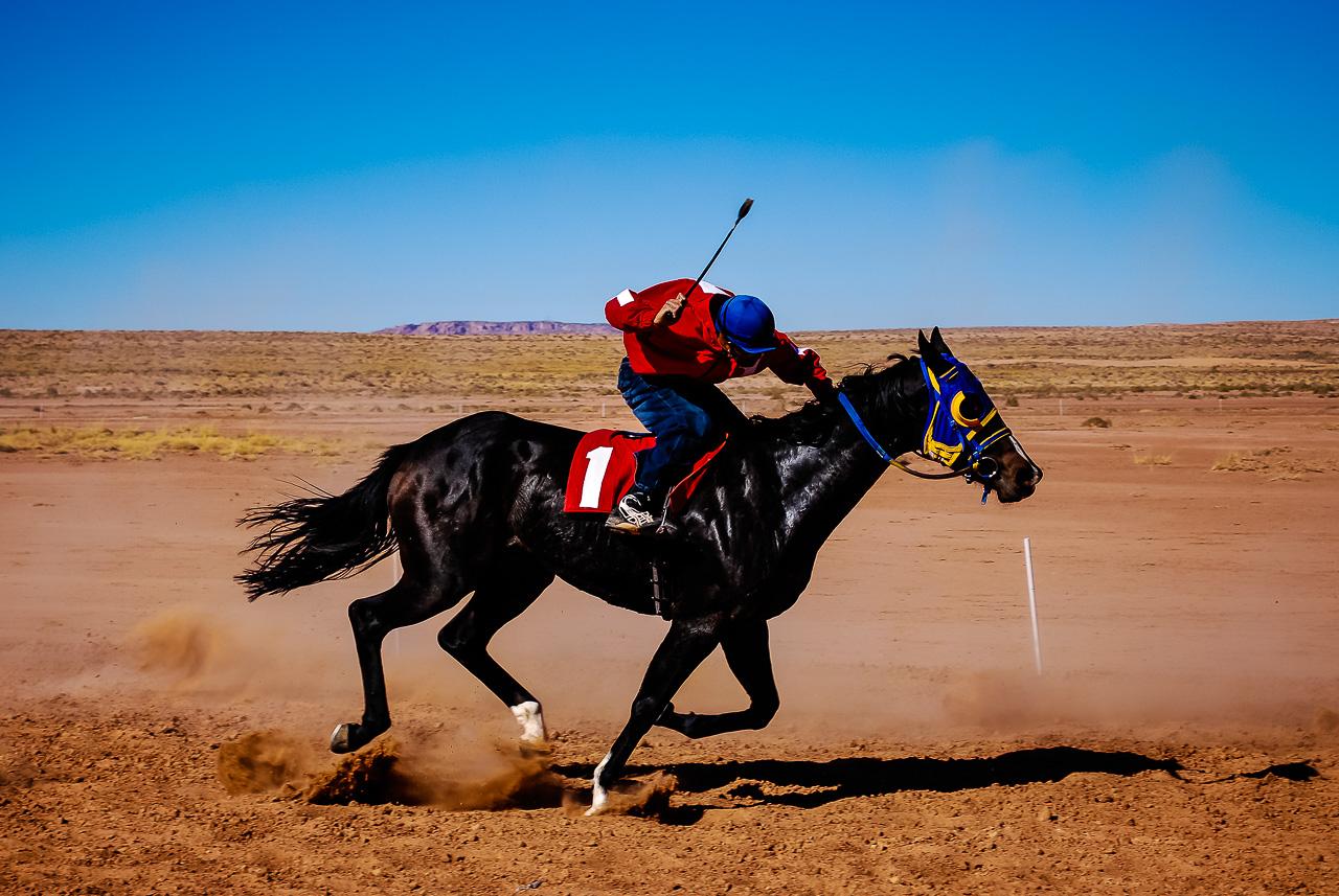 Open Horse Race Action,  Navajo Nation, Arizona