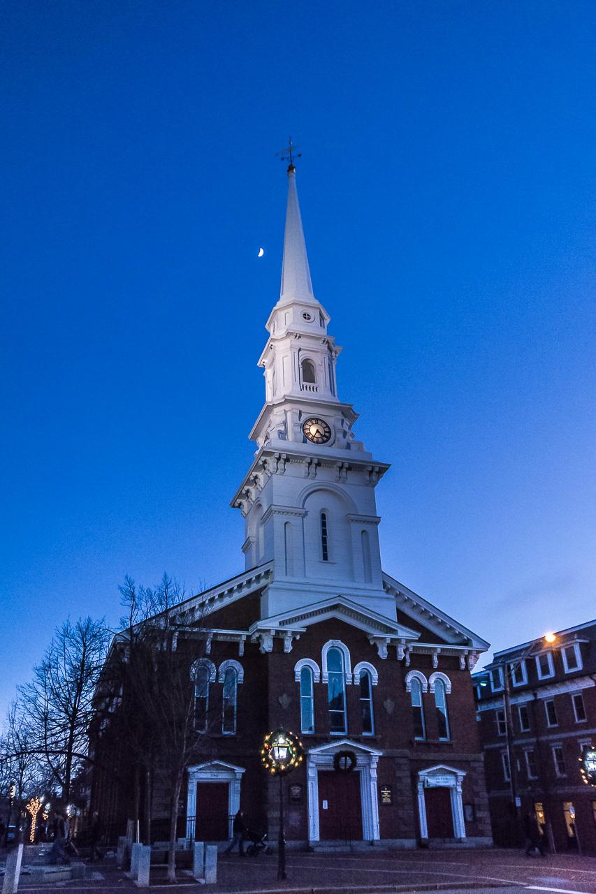 Christmas & Celestial Lighting, Portsmouth, N.H. Church
