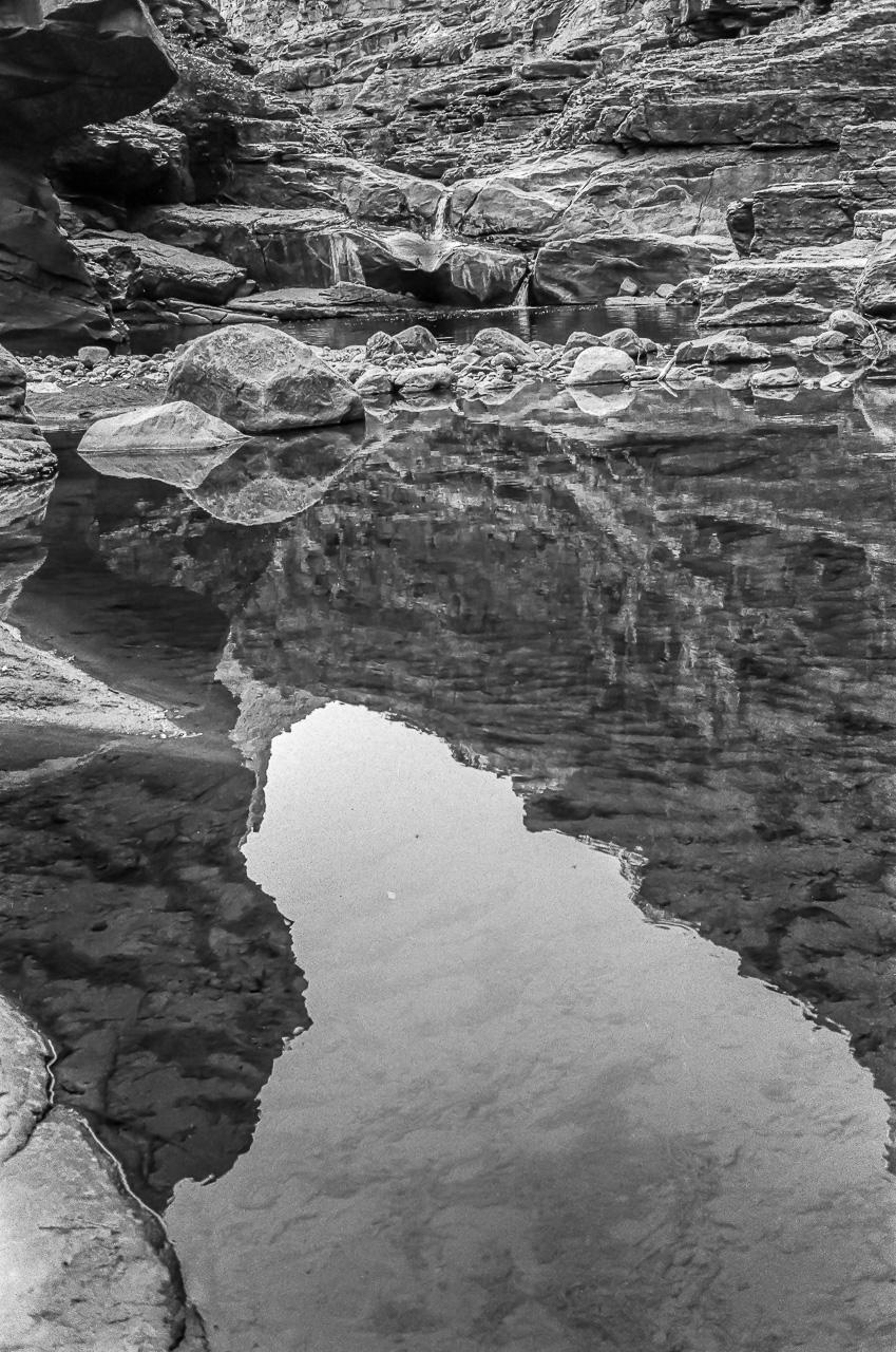 Canyon Mirror Waterfall Pool