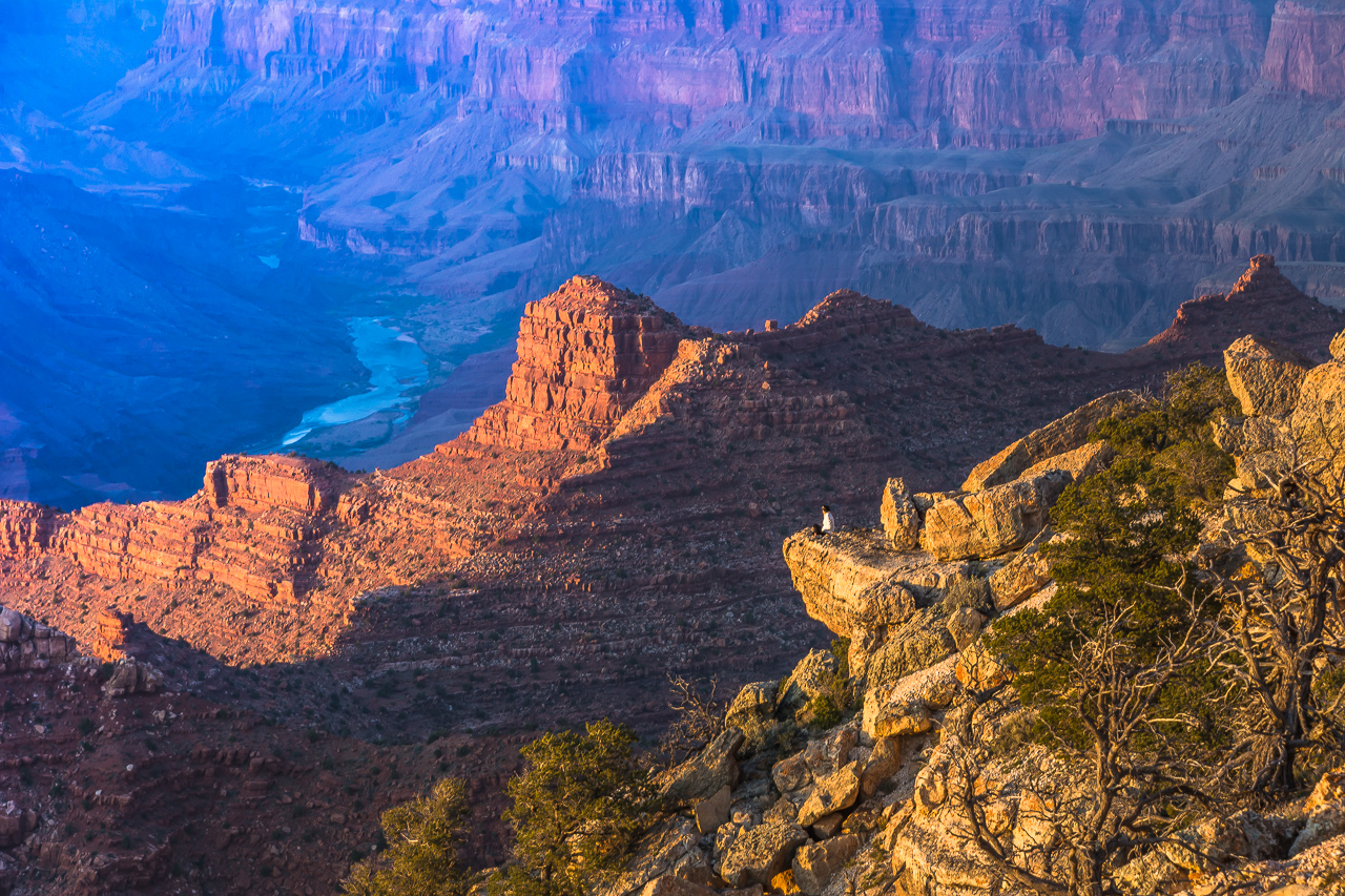 Grand Canyon Sunset & Full Moonrise FROM THE EDGE