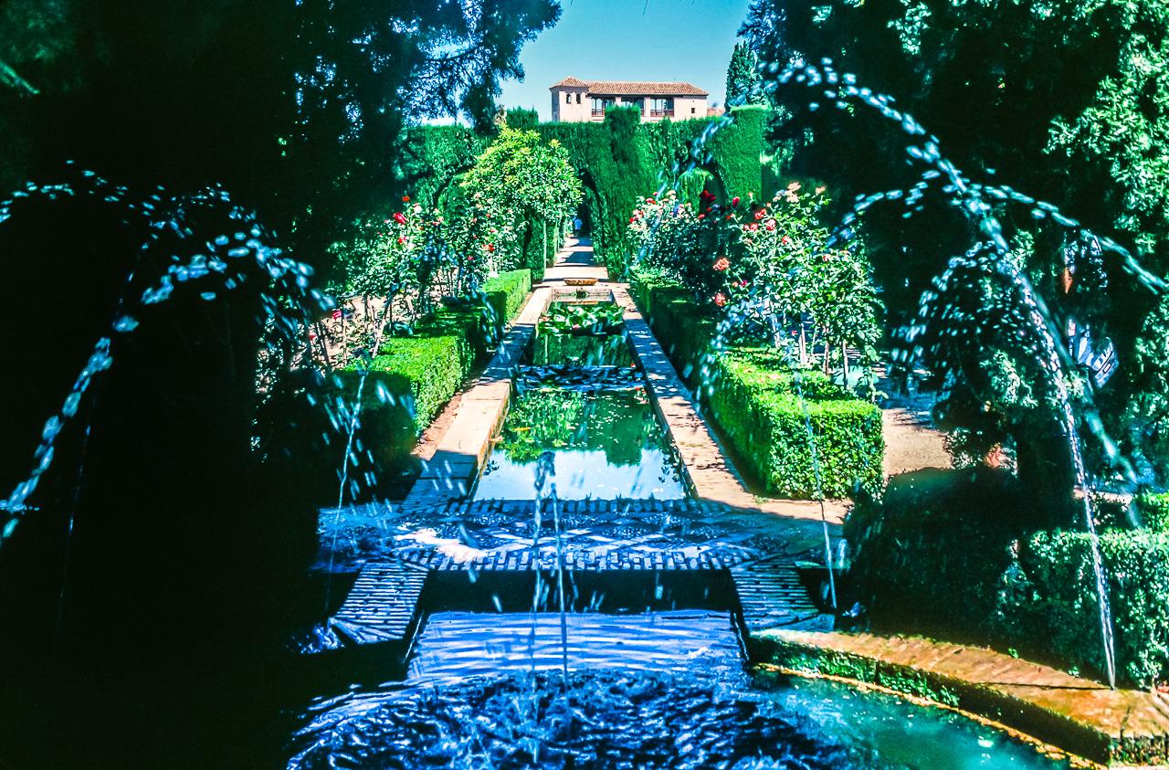 Moorish Water Gardens, Alhambra Palace, Granada, Spain
