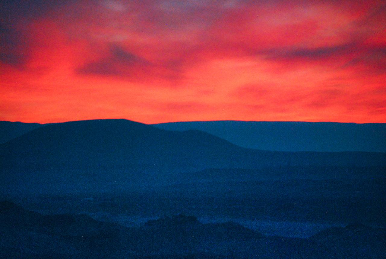Fiery Sunset Over Hopi Mesas