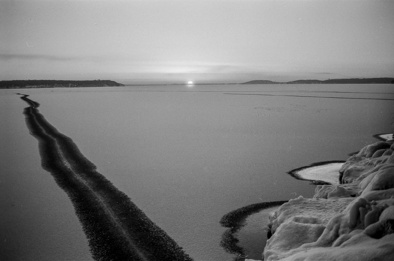 Green Lake, Wisconsin: Black Ice Sunset