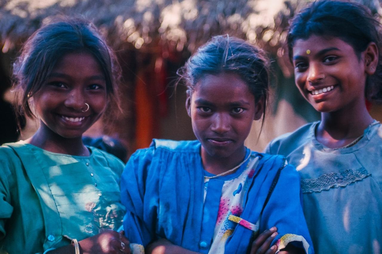 Three Mock-Serious Teasing Girls, W. Bengal, India