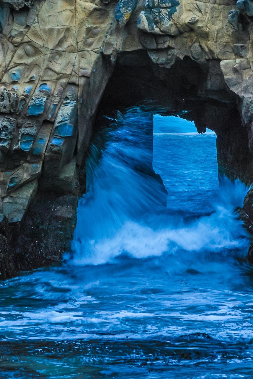 P:acific Ocean Big Sur Wave-Cave Sculpture