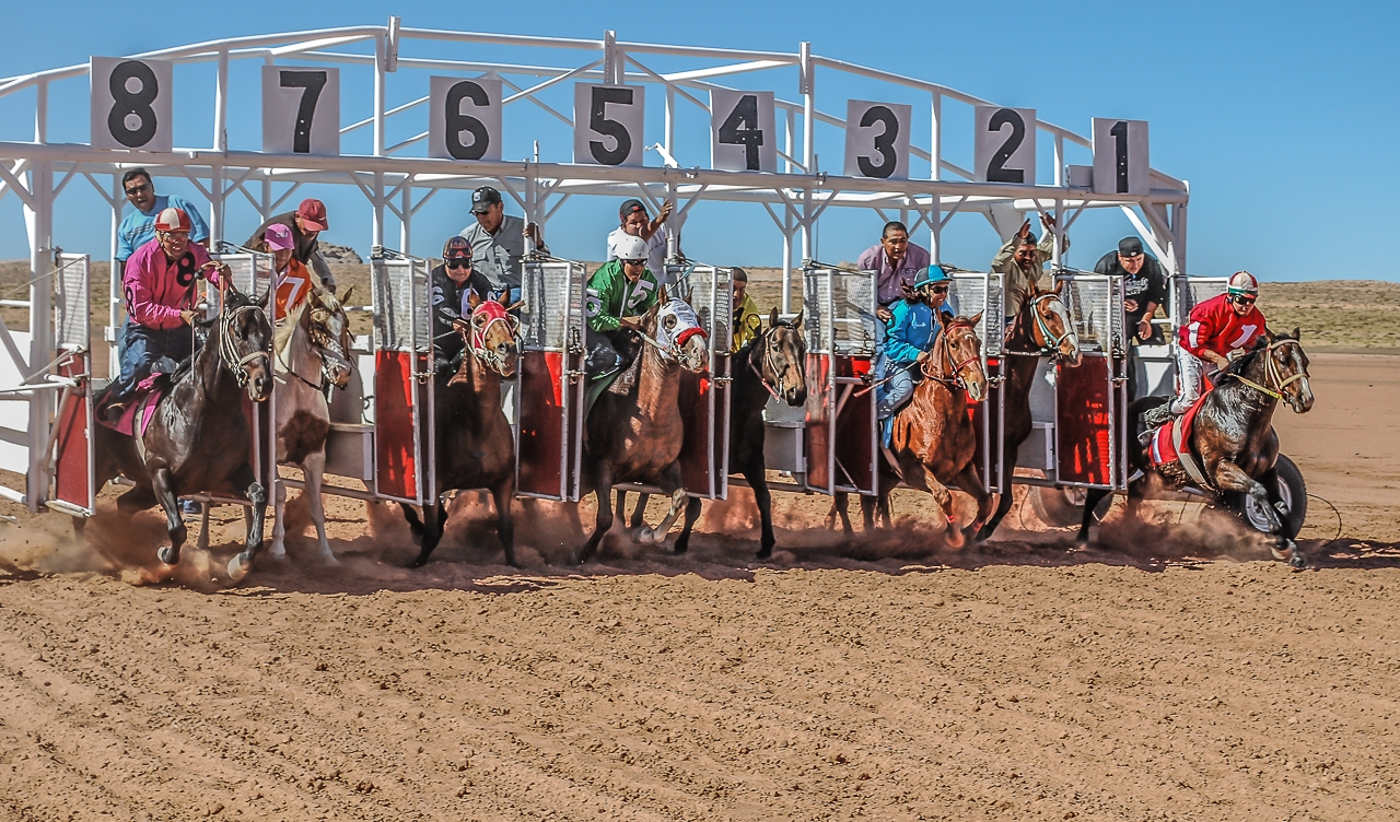 Riders of All Sizes In Open Horse Races, Navajo Nation