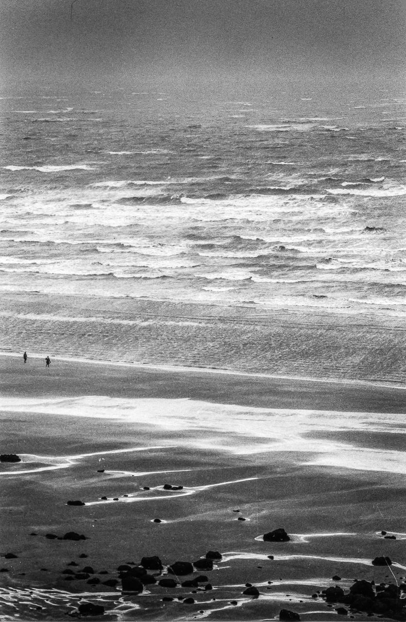 View of the Atlantic Ocean, Benerville sur Mer, Normandy, France