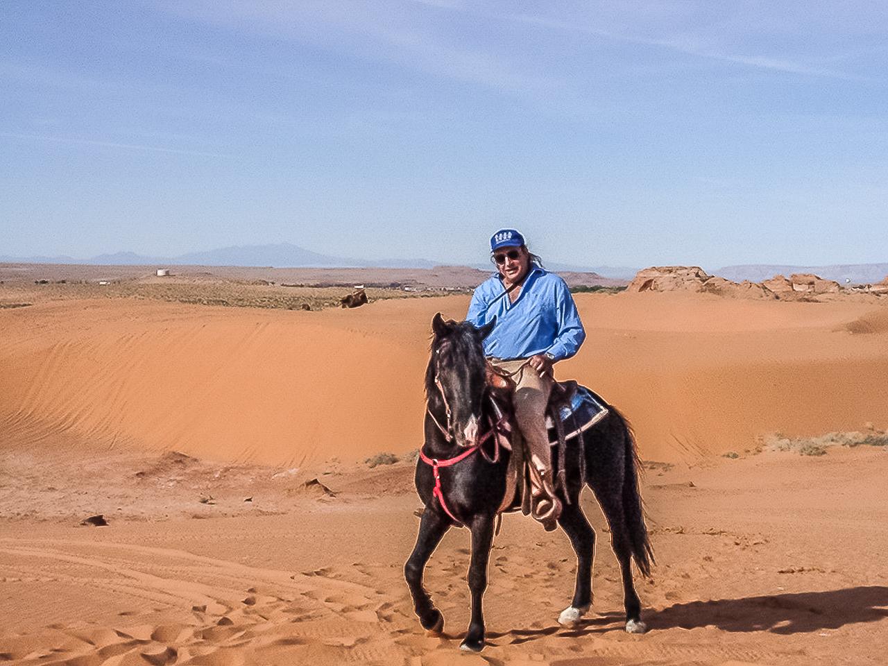 Tom Rides His Stallion Timmy On Tuba City's Dunes