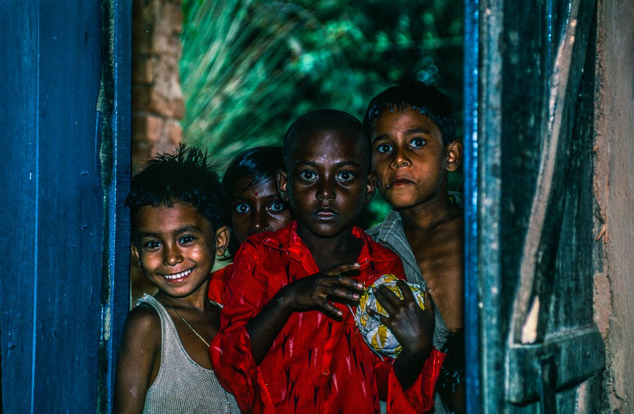 Curious Village Boys Meet A Foreign Stranger