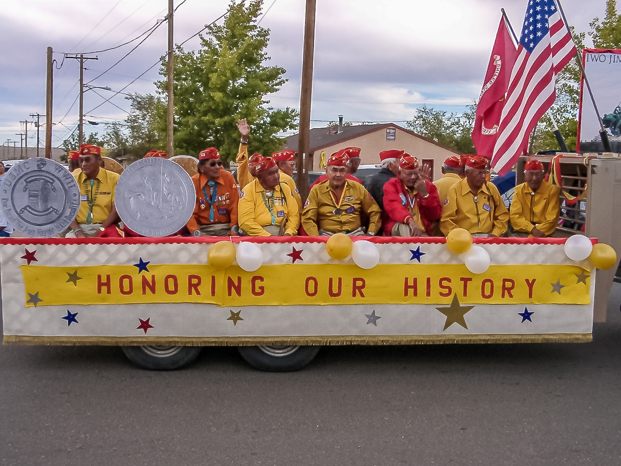 Navajo Codetalkers Celebrated in the Western Navajo Rodeo Parade