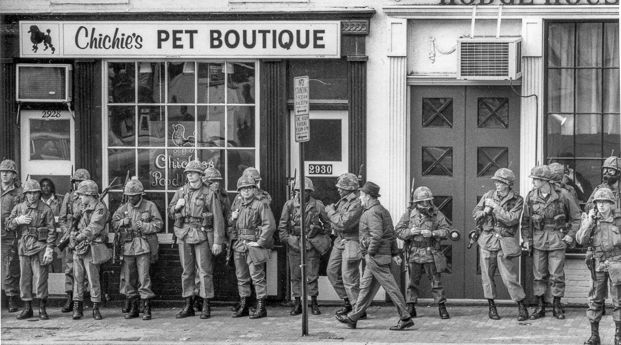 Troops Guard Chichie's Pet Boutique, Washington, D.C.