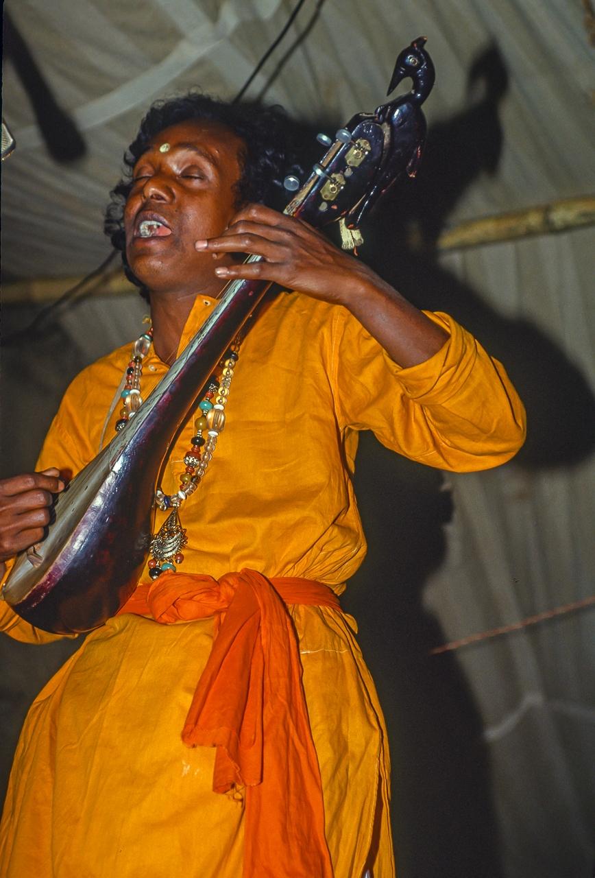 Vasudev Das Baul Performs for Large Village Crowd