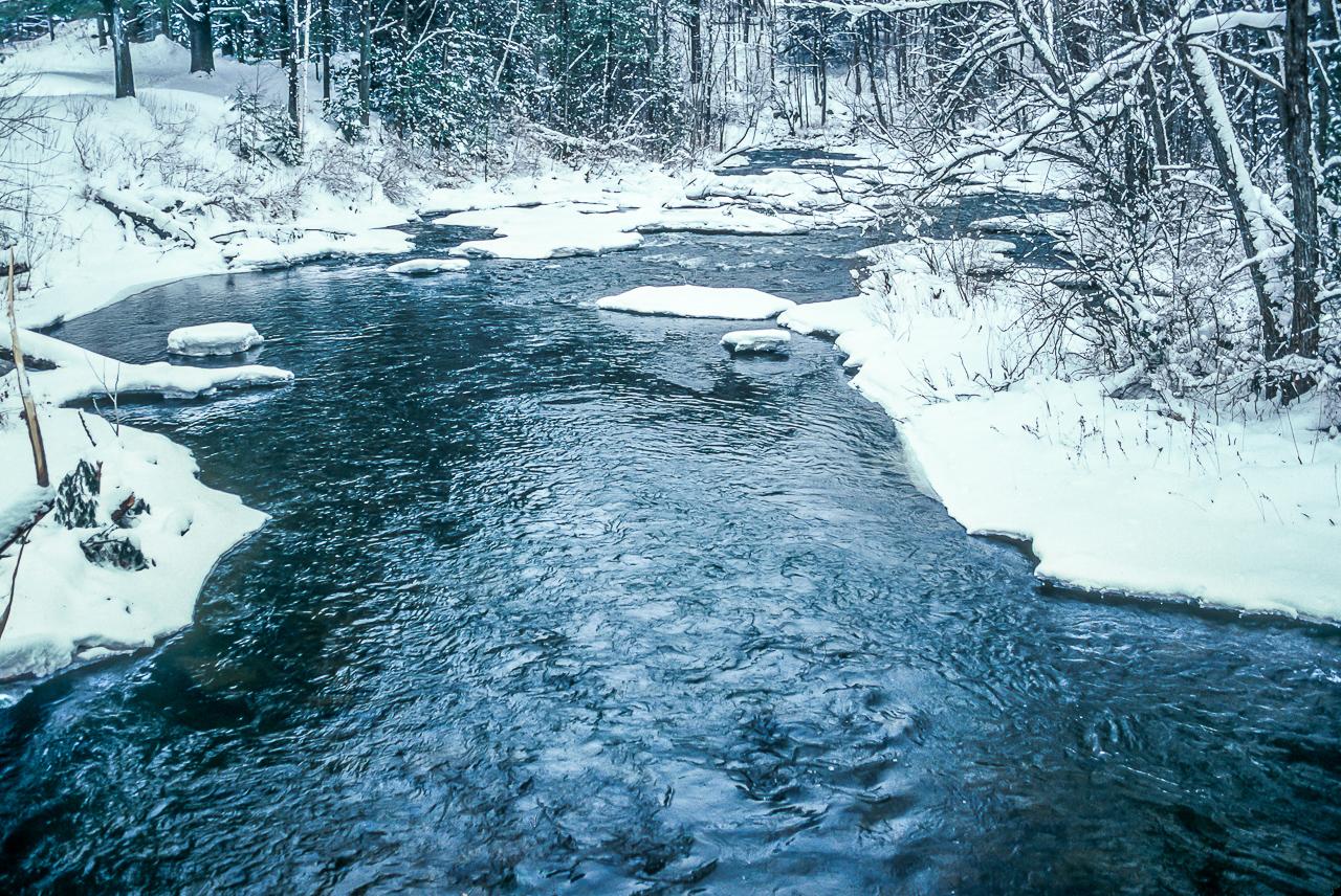 Wild Vermont River Inviting even in Winter